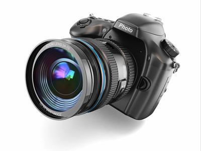Digitale Spiegelreflexkamera mit Objektiv